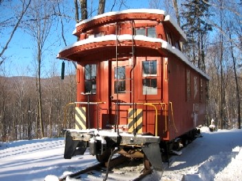 Caboose Winter End Shot